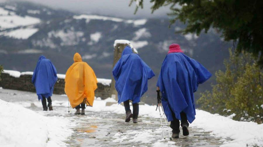 Peregrinos por el Camino de Santiago en invierno :: Guía del Camino de Santiago