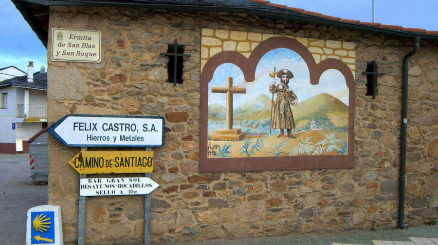 Ermita de San blas y San Roque, Columbrianos, León - Camino Francés (Etapa de Ponferrada a Villafranca del Bierzo) :: Guía del Camino de Santiago