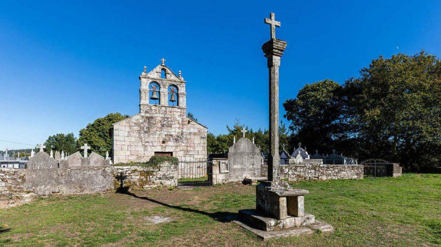 Iglesia de Santiago, Lestedo, Lugo :: Albergues del Camino de Santiago