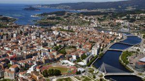 Pontevedra, vista aérea :: Albergues del Camino de Santiago