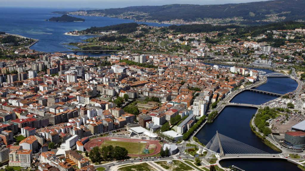 Pontevedra, vista aérea :: Guía del Camino de Santiago