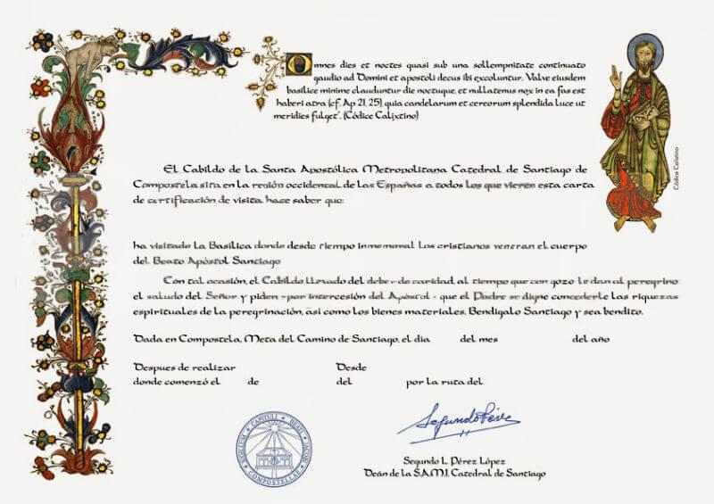 Certificado de Distancia :: Albergues del Camino de Santiago
