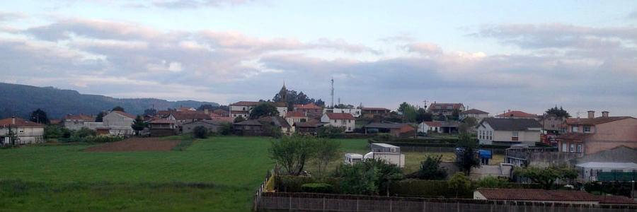 Panorámica de O Pedrouzo, Camino Francés :: Albergues del Camino de Santiago
