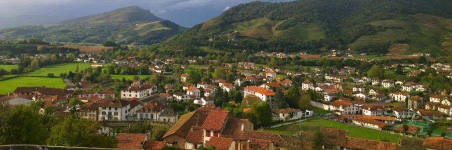 Panorámica de Saint-Jean-Pied-de-Port, Francia :: Guía del Camino de Santiago