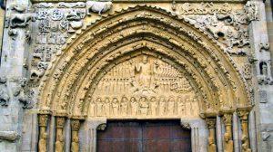 Portada románica de la iglesia de Santa María, Sangüesa, Navarra, Camino Aragonés :: Albergues del Camino de Santiago