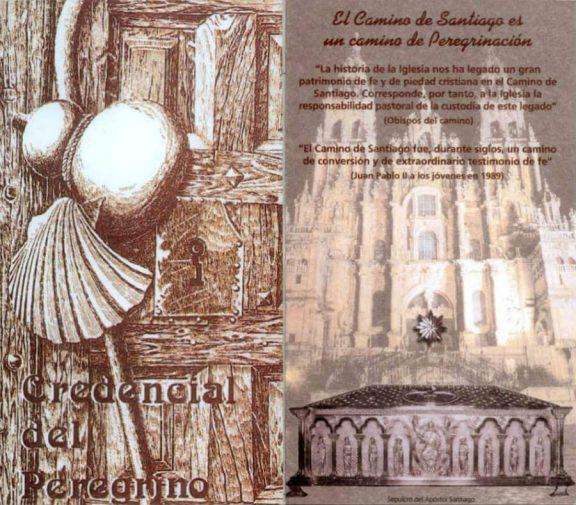 Portada de la Credencial del Peregrino :: Albergues del Camino de Santiago