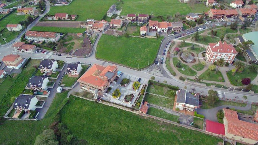 Vista aérea de Polanco (Cantabria) - Camino del Norte :: Albergues del Camino de Santiago