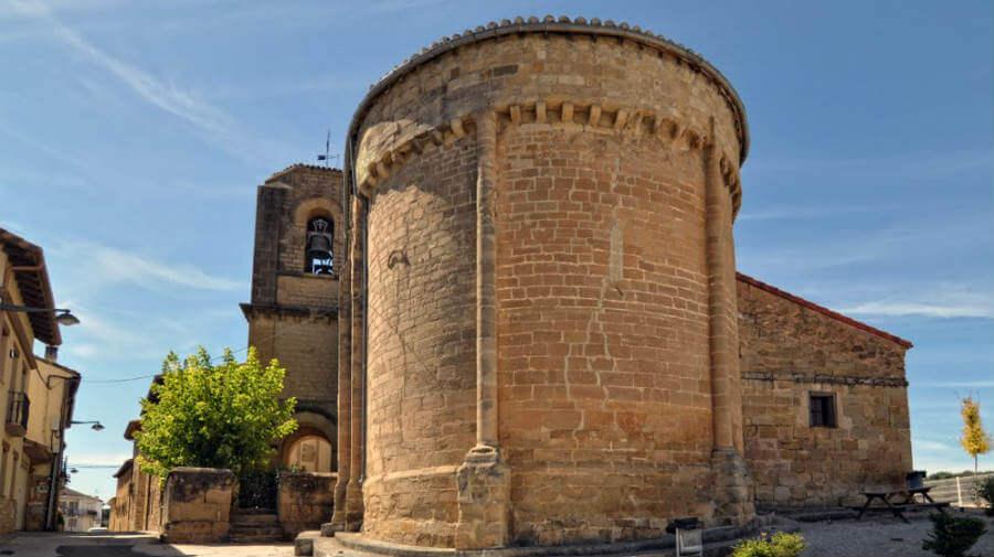 Iglesia de San Salvador, Lorca, Navarra, Camino Francés :: albergues del Camino de Santiago