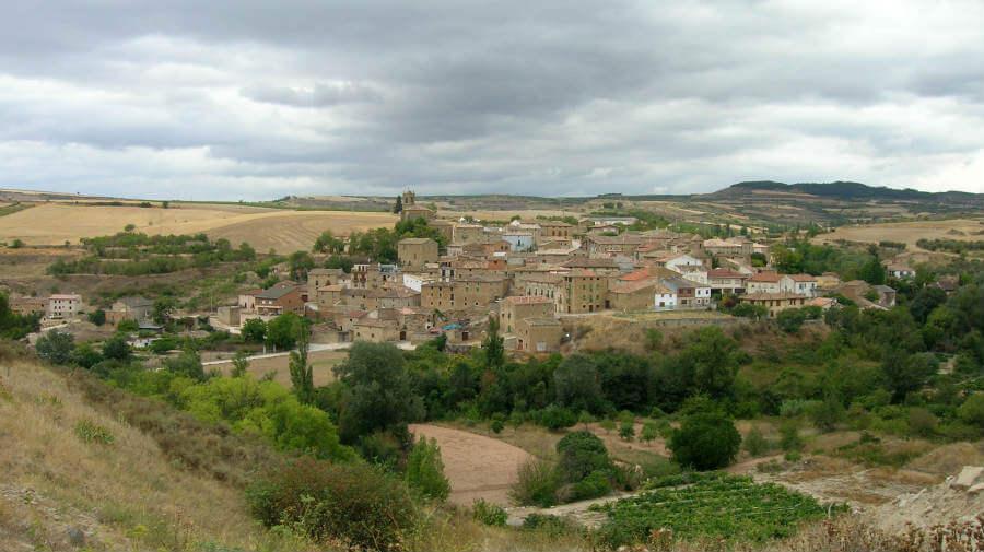 Vista de Torres del Río, Navarra - Camino Francés (Etapa de Los Arcos a Logroño) :: Guía del Camino de Santiago