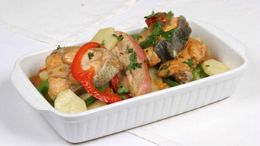 Caldeirada de peixe à Tio Feito, plato típico de Caminha, Portugal - Camino Portugués por la Costa :: Guía del Camino de Santiago
