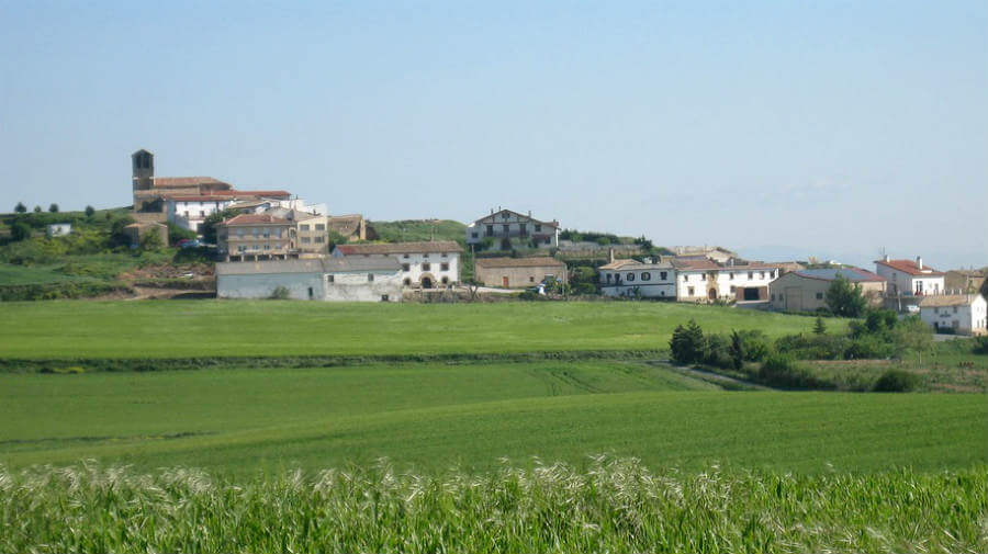 Vista de Muruarte de Reta, Navarra - Camino Aragonés :: Guía del Camino de Santiago