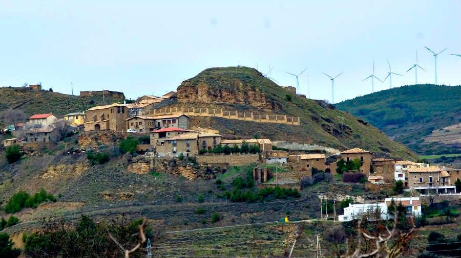 Vista de Rocaforte, Navarra - Camino Aragonés :: Guía del Camino de Santiago
