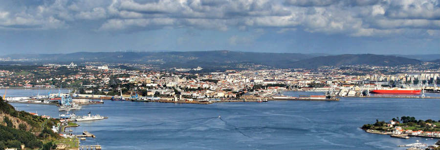 Vista de Ferrol, punto de inicio del Camino Inglés :: Guía del Camino de Santiago