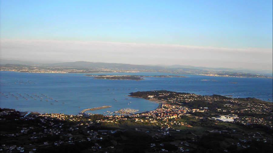 Vista de la Ría de Arousa - Variante Espiritual del Camino Portugués :: Guía del Camino de Santiago