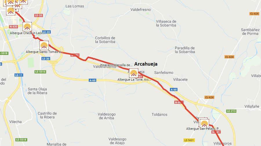 Albergues de peregrinos en Arcahueja, León - Camino Francés :: Albergues del Camino de Santiago