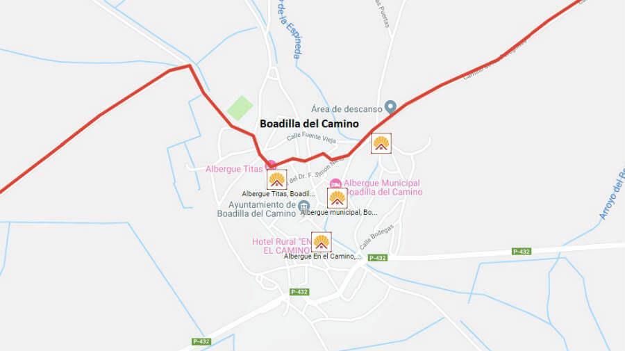 Albergues de peregrinos en Boadilla del Camino, Palencia - Camino Francés :: Albergues del Camino de Santiago