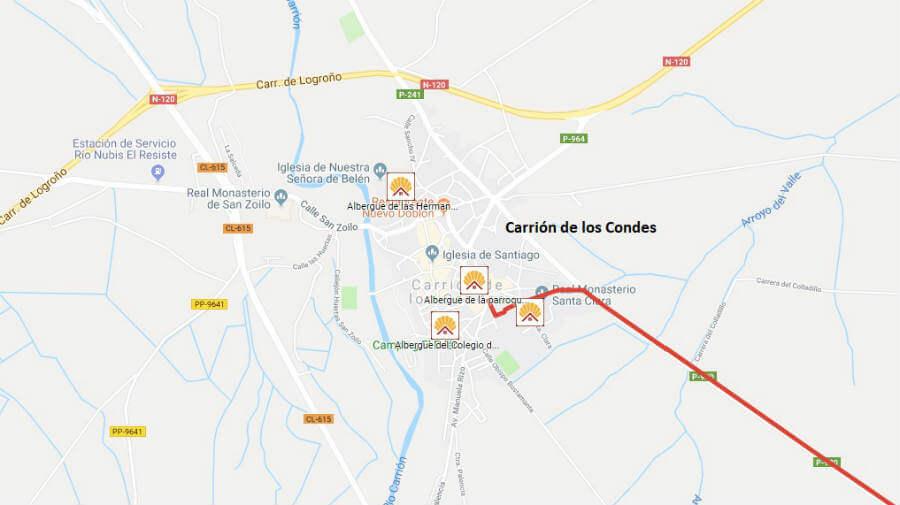 Albergues de peregrinos en Carrión de los Condes, Palencia - Camino Francés :: Albergues del Camino de Santiago
