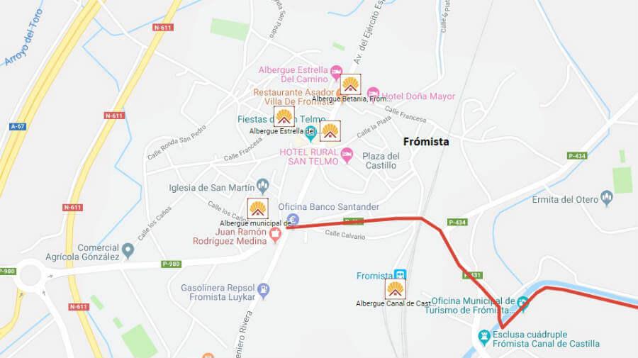 Albergues de peregrinos en Frómista, Palencia - Camino Francés :: Albergues del Camino de Santiago