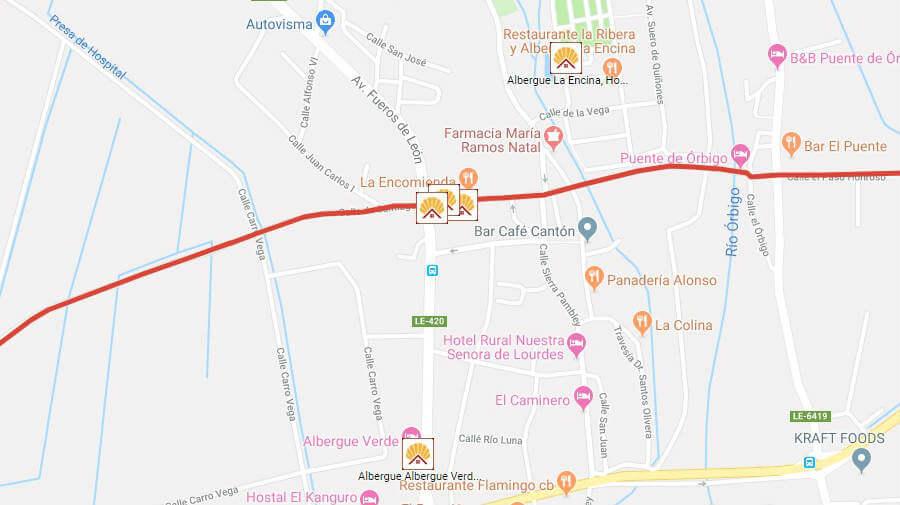 Albergues de peregrinos en Hospital de Órbigo, León - Camino Francés