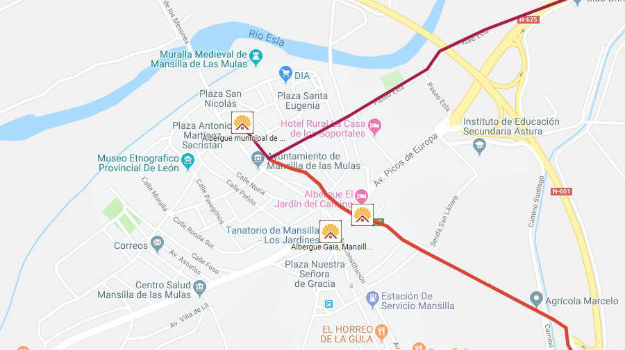 Albergues de peregrinos en Mansilla de las Mulas, León - Camino Francés :: Albergues del Camino de Santiago