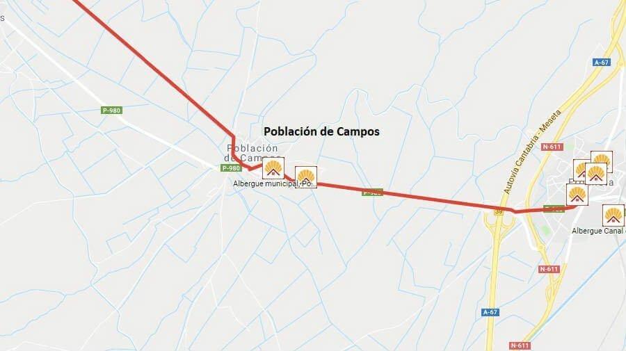 Albergues de peregrinos en Población de Campos, Palencia - Camino Francés :: Albergues del Camino de Santiago