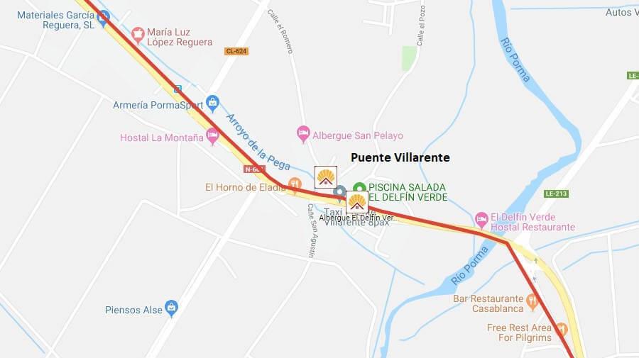 Albergues de peregrinos en Puente Villarente, León - Camino Francés :: Albergues del Camino de Santiago