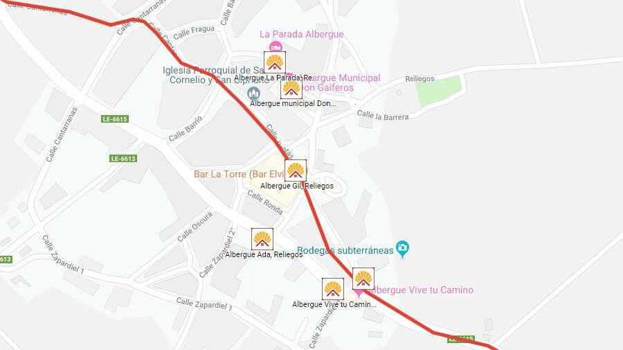 Albergues de peregrinos en Reliegos, León - Camino Francés :: Albergues del Camino de Santiago