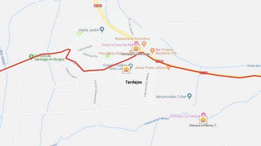 Albergues de peregrinos en Tardajos, Burgos - Camino Francés :: Guía del Camino de Santiago