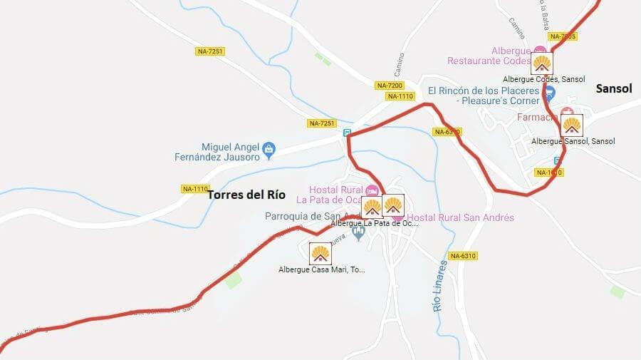 Albergues de peregrinos en Torres del Río, Navarra - Camino Francés :: Guía del Camino de Santiago