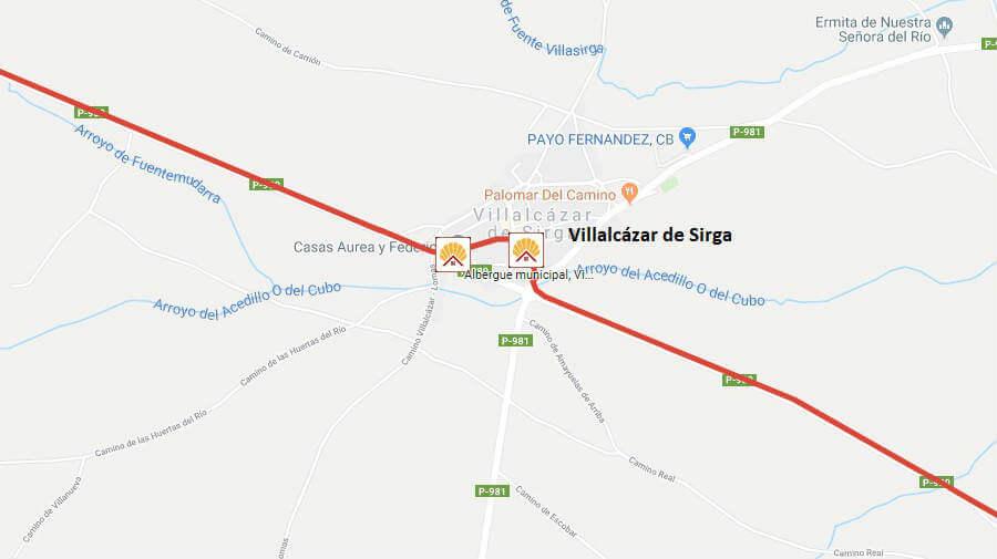 Albergues de peregrinos en Villalcázar de Sirga, Palencia - Camino Francés :: Albergues del Camino de Santiago