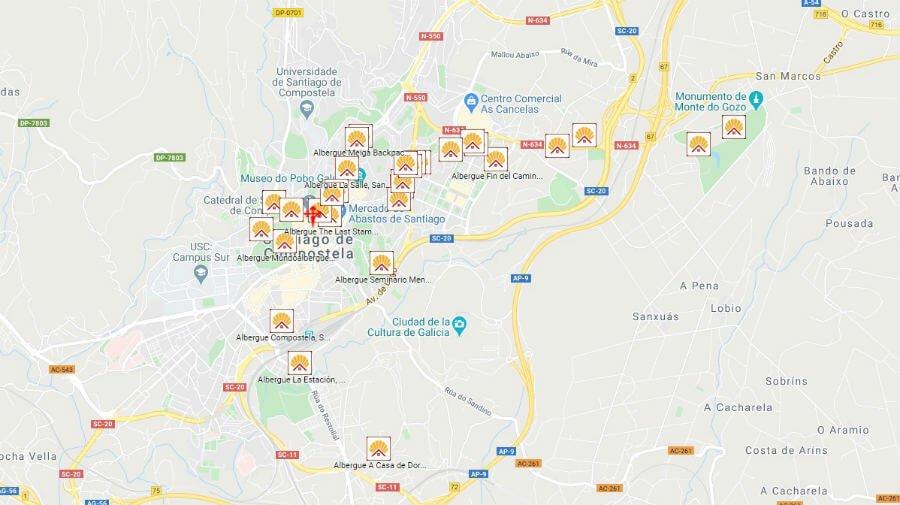 Albergues de peregrinos en Santiago de Compostela :: Albergues del Camino de Santiago