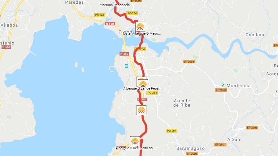 Albergues de peregrinos en Arcade, Pontevedra - Camino Portugués :: Albergues del Camino de Santiago