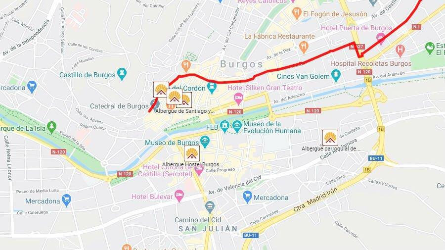 Albergues de peregrinos en Burgos - Camino Francés :: Albergues del Camino de Santiago