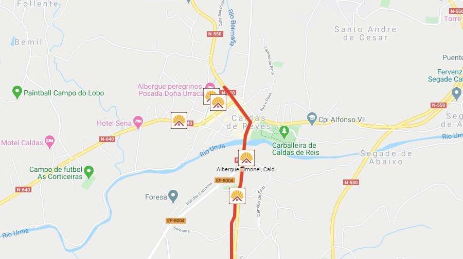 Albergues de peregrinos en Caldas de Reis, Pontevedra - Camino Portugués :: Albergues del Camino de Santiago
