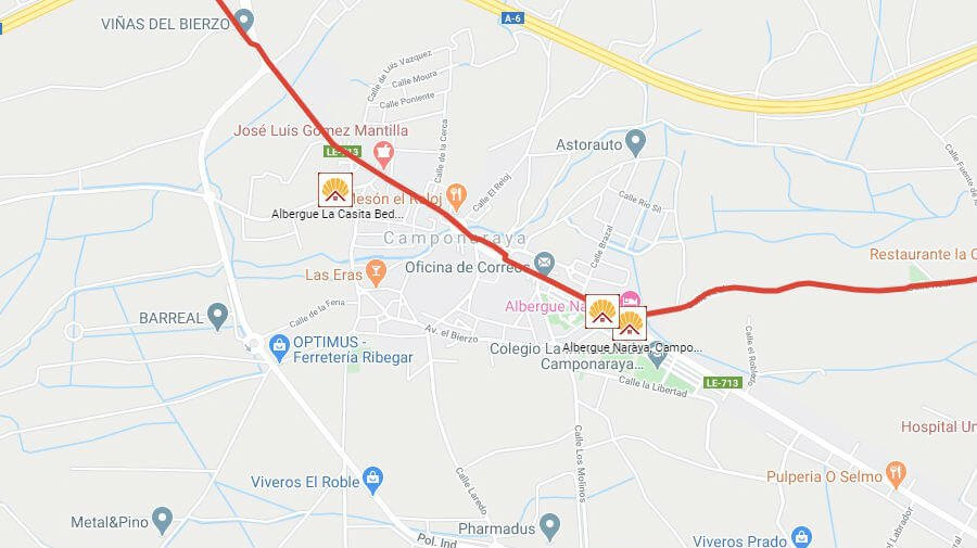 Albergues de peregrinos en Camponaraya, León - Camino Francés :: Albergues del Camino de Santiago