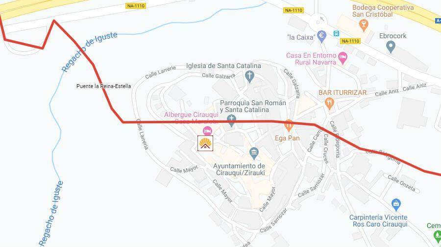 Albergues de peregrinos en Cirauqui, Navarra - Camino Francés :: Albergues del Camino de Santiago