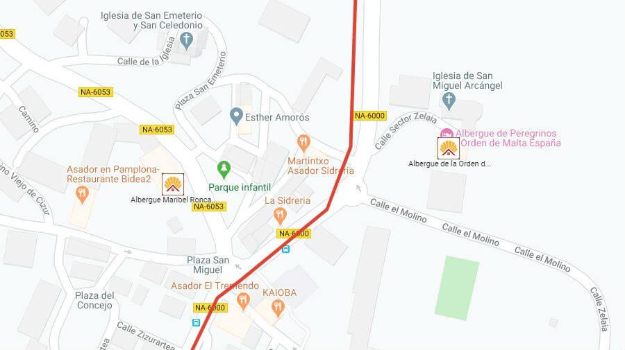 Albergues de peregrinos en Cizur Menor, Navarra - Camino Francés :: Guía del Camino de Santiago