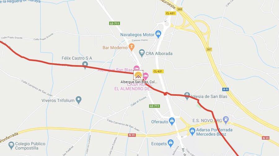 Albergues de peregrinos en Columbrianos, León - Camino Francés :: Albergues del Camino de Santiago