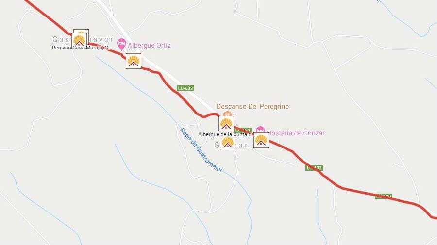 Albergues de peregrinos en Gonzar, Lugo - Camino Francés :: Albergues del Camino de Santiago