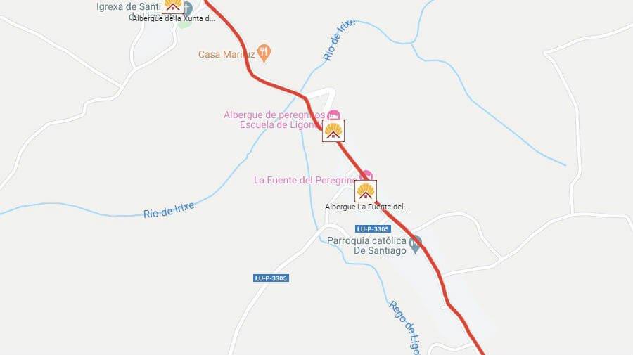 Albergues de peregrinos en Ligonde, Lugo - Camino Francés :: Albergues del Camino de Santiago
