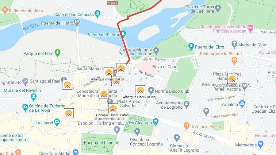 Albergues de peregrinos en Logroño, La Rioja - Camino Francés :: Albergues del Camino de Santiago