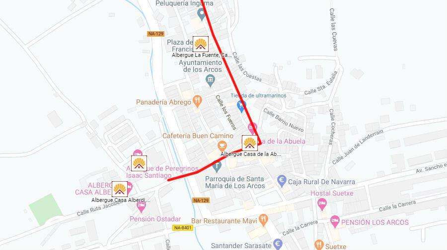 Albergues de peregrinos en Los Arcos, Navarra - Camino Francés :: Albergues del Camino de Santiago