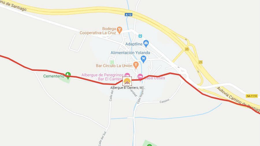 Albergues de peregrinos en Mañeru, Navarra - Camino Francés :: Guía del Camino de Santiago