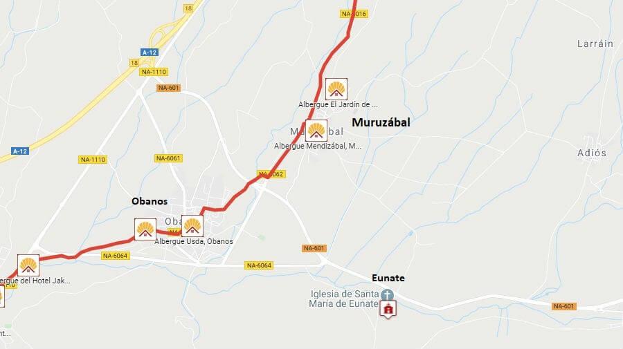 Albergues de peregrinos en Muruzábal, Navarra - Camino Francés :: Guía del Camino de Santiago