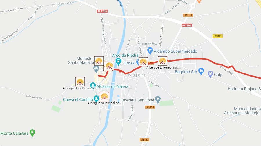 Albergues de peregrinos en Nájera, La Rioja - Camino Francés :: Albergues del Camino de Santiago