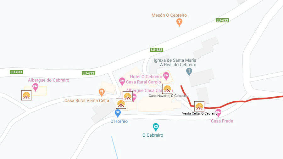 Albergues de peregrinos en O Cebreiro, Lugo - Camino Francés :: Albergues del Camino de Santiago