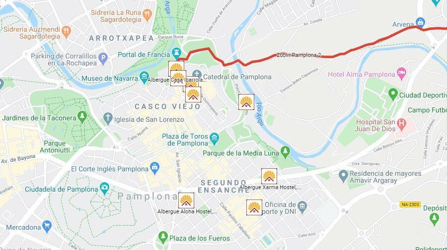 Albergues de peregrinos en Pamplona, Navarra - Camino Francés :: Guía del Camino de Santiago
