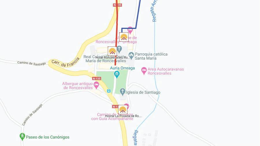 Albergues de peregrinos y otros alojamientos en Roncesvalles, Navarra - Camino Francés :: Guía del Camino de Santiago