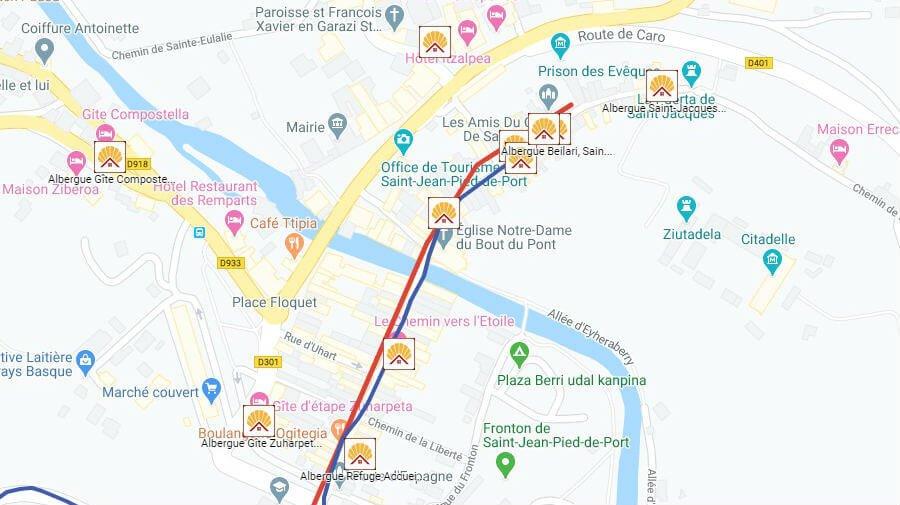 Albergues de peregrinos en Saint-Jean-Pied-de-Port, Francia - Camino Francés :: Guía del Camino de Santiago