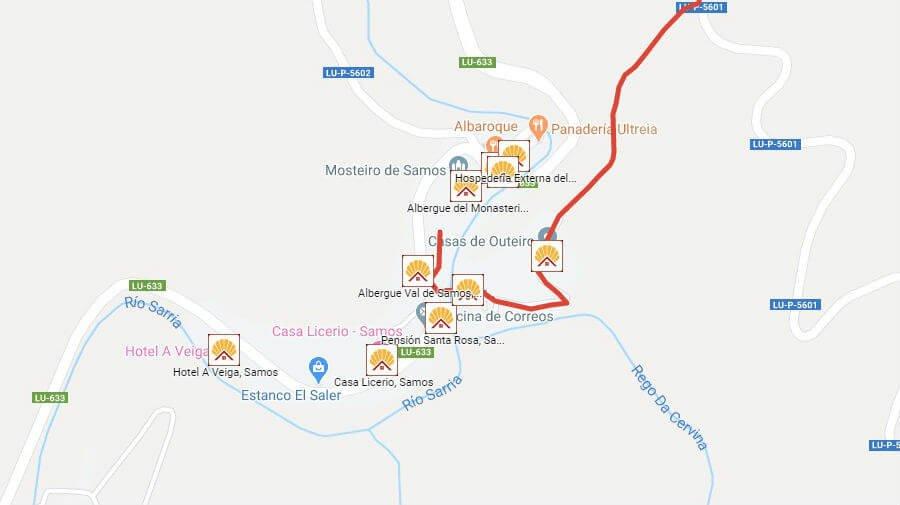 Albergues de peregrinos en Samos, Lugo - Camino Francés :: Albergues del Camino de Santiago